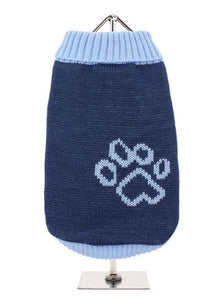 Blue Paw Dog Sweater