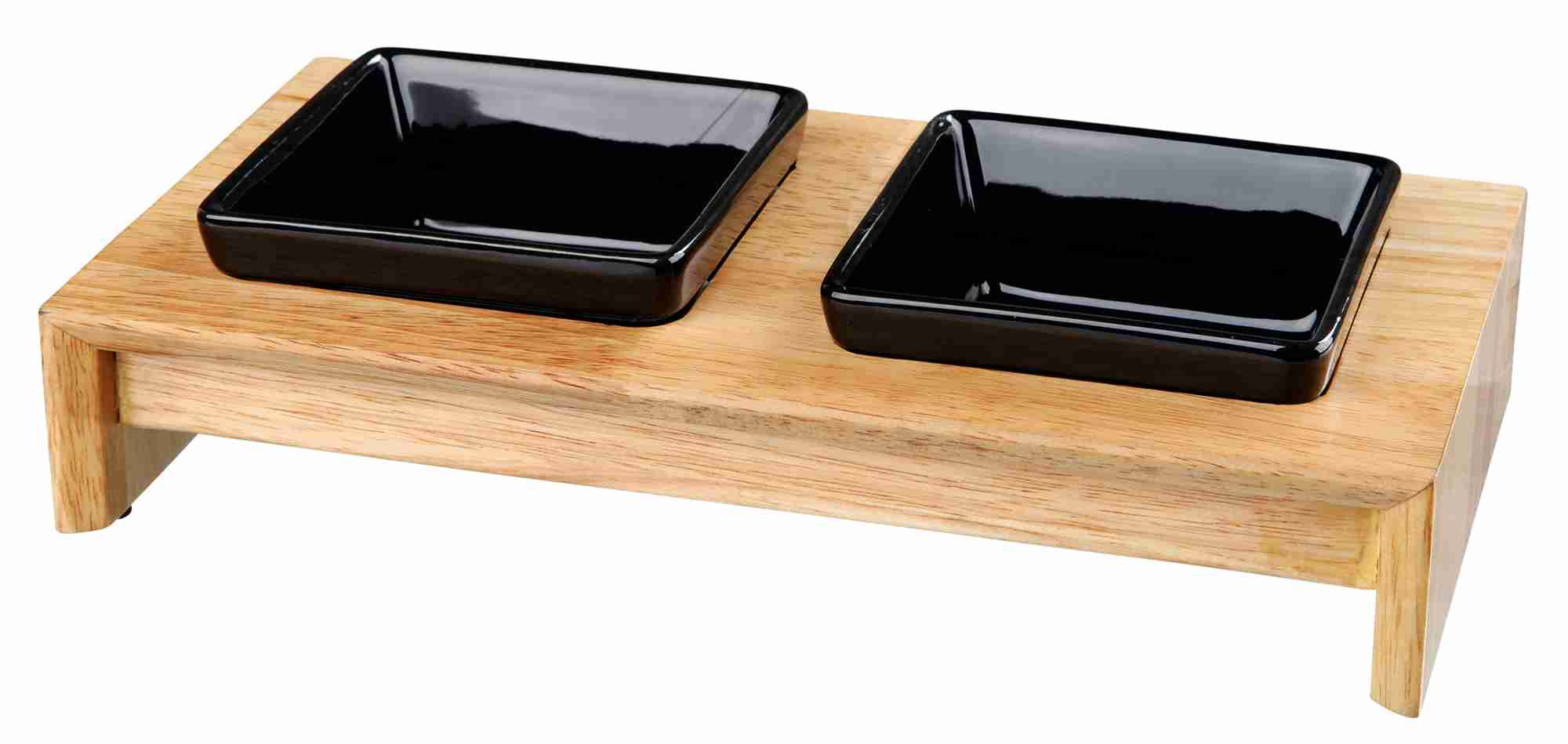 Ceramic Bowl Set - Wooden Stand