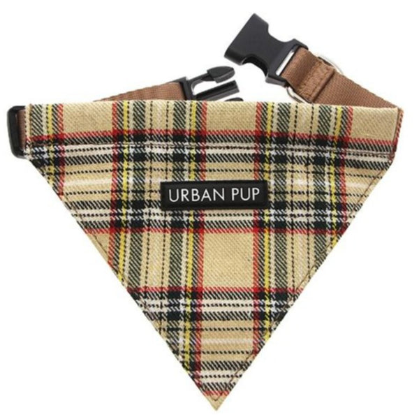 Brown Tartan Dog Bandana