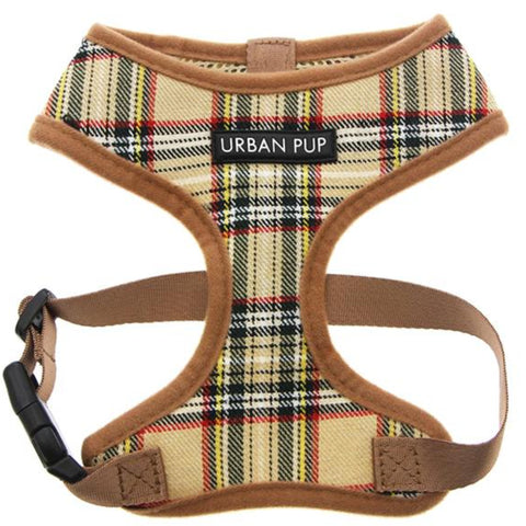 Brown Tartan Dog Harness