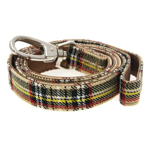 Brown Tartan Dog Lead
