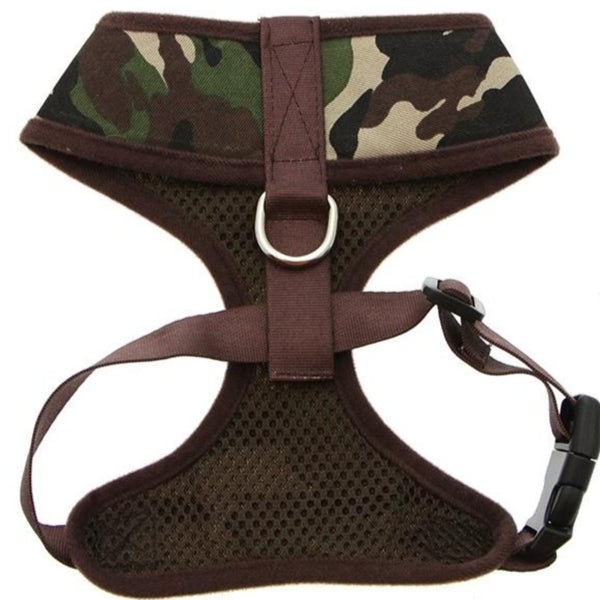 Camouflage Dog Harness Reverse