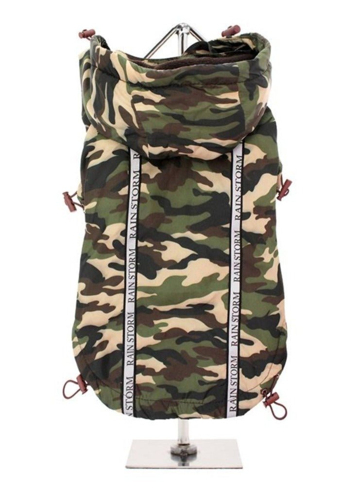 Rainstorm waterproof dog coat - camouflage