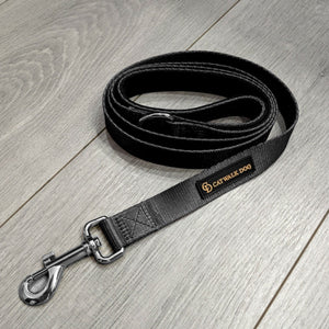 Black & Gunmetal Grey Lead - By Catwalk Dog