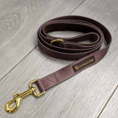 Brown & Gold Lead - By Catwalk Dog