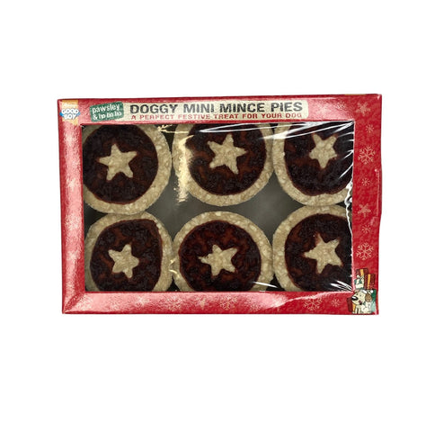 Festive Doggy Mini Mince Pies 6pk