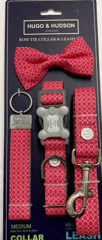 Fuchsia Collar and Lead Set