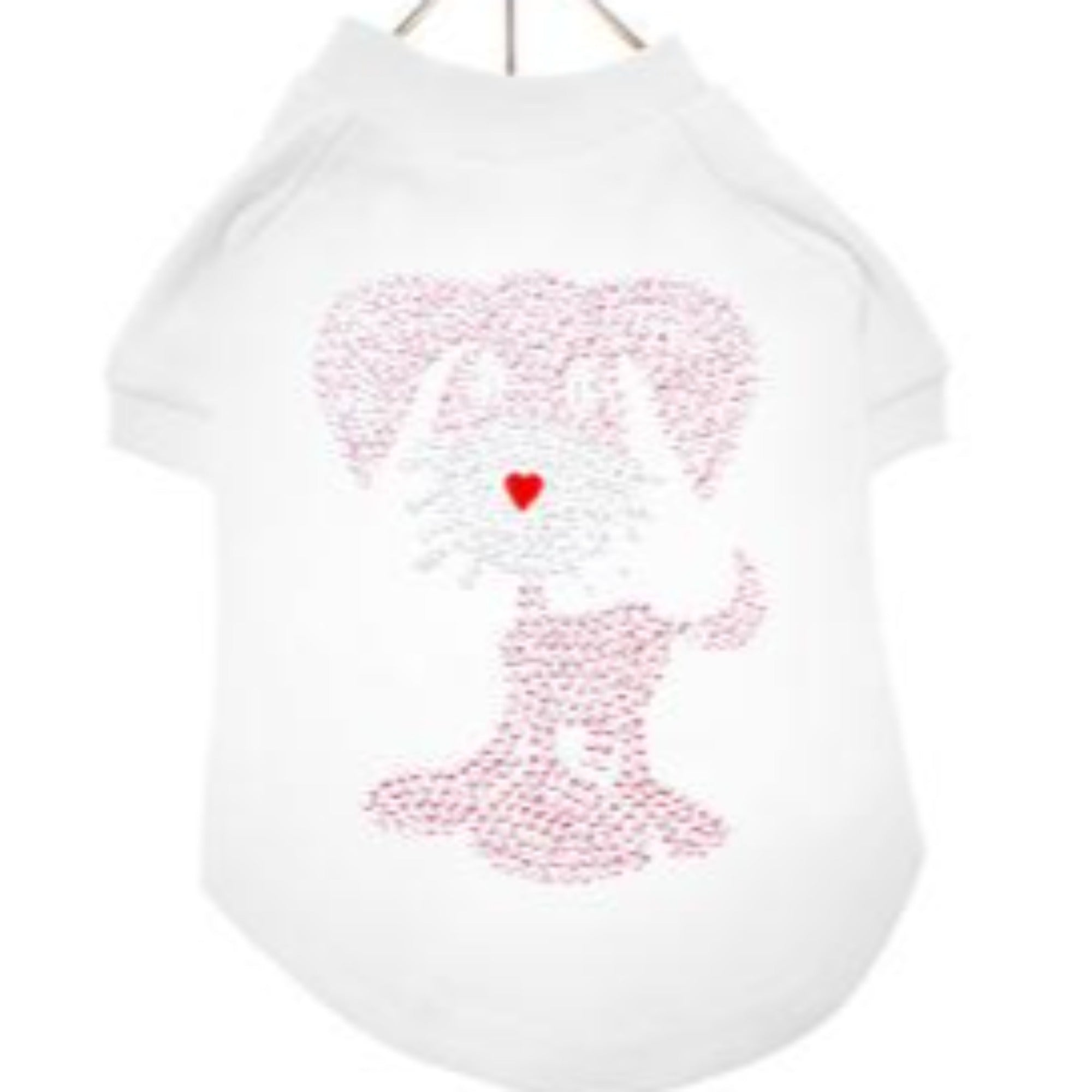 GlamourGlitz Pup Dog T-Shirt - White