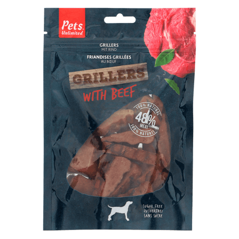 Grillers Beef Dog Snacks - 100g