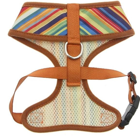 Henley Striped Dog Harness - Reverse