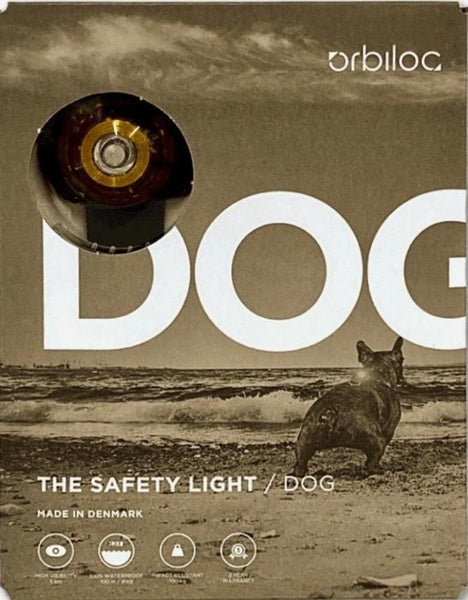 Orbiloc Dog Dual Safety Light - Yellow