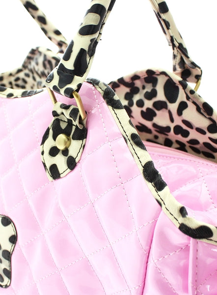 Patent Pink Dog Carrier - Detail