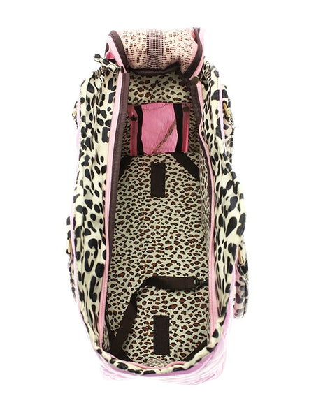 Patent Pink Dog Carrier - Top View