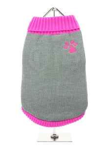 Pink Paw Dog Sweater