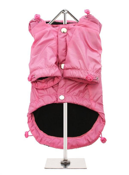Rainstorm Waterproof Dog Coat - Pink - Reverse Side
