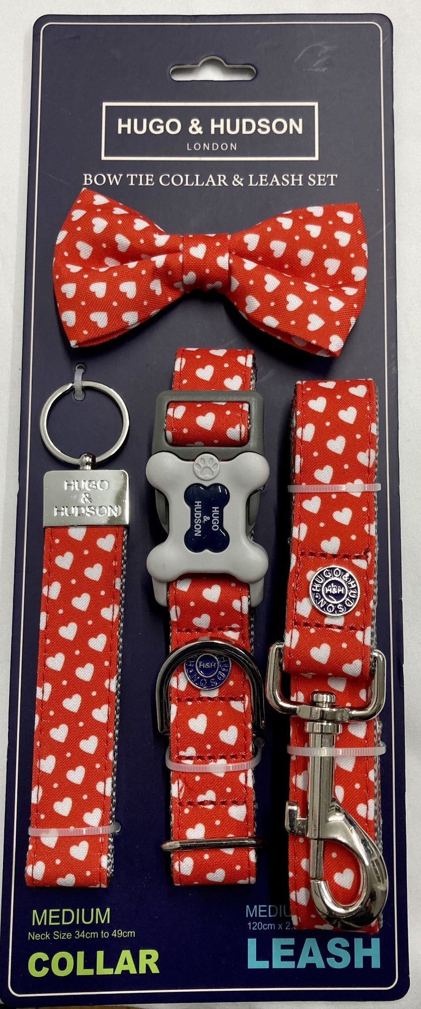 Red Heart Dog Accessory Set