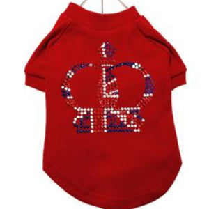Royal Crown Red GlamourGlitz Dog T-Shirt
