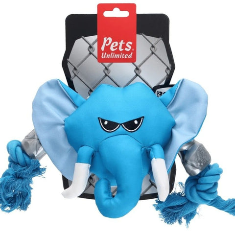 Rough N Tuff Elephant Head Dog Toy