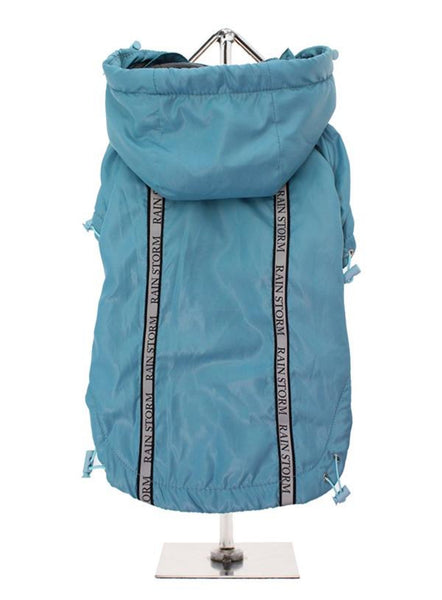 Teal Blue Rainstorm Waterproof Dog Coat