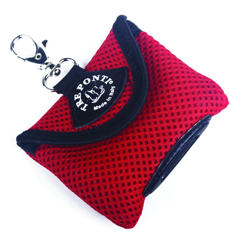 Mesh Poop Bag Dispenser - Red - by Tre Ponti
