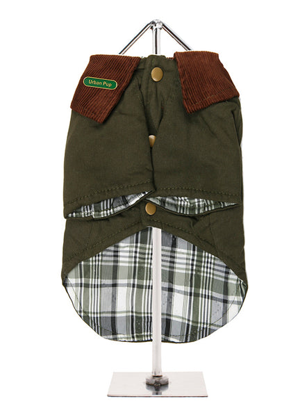 Woodland Country Dog Jacket - Reverse