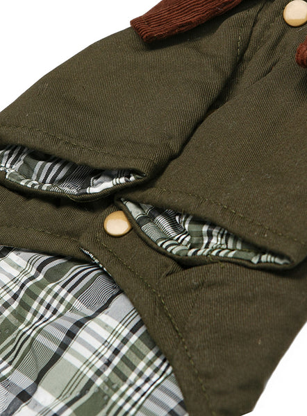 Woodland Country Dog Jacket - Close up Detail