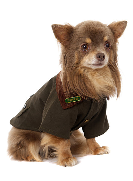 Woodland Country Dog Jacket - Modelled by Dog1