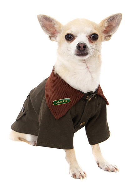 Woodland Country Dog Jacket - Modelled by Dog