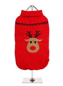 Rudolph Red Dog Sweater