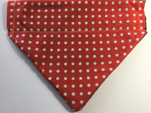 Red Polka Dot Cotton Bandana