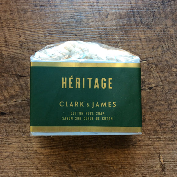 "Soap on a Rope Heritage ""Clark & James """