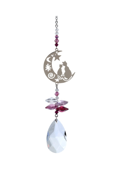 CRYSTAL FANTASY Hanging Two Cats - Deep Rose