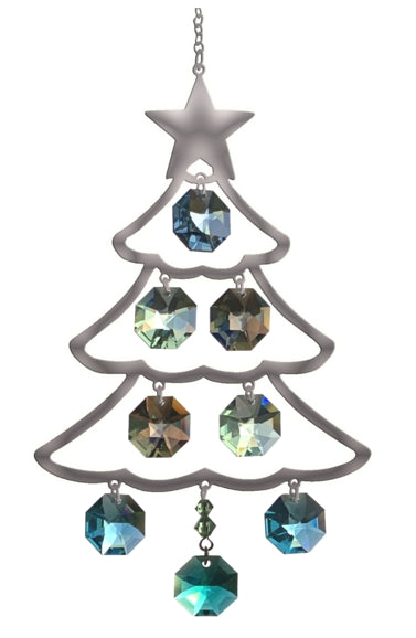 Crystal Radiance Hanging PURE RADIANCE Large Christmas Tree - Fir