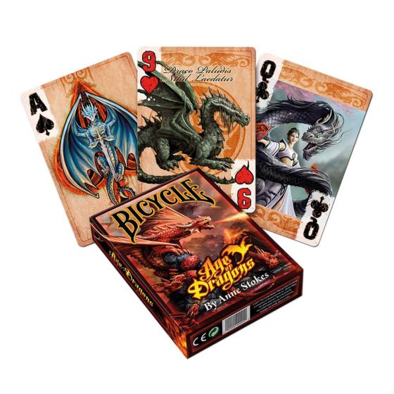 Age of Dragons Fire breathing Fantasy Playing Cards by Anne Stokes