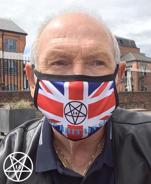Official KEEP BRITAIN SAFE Union Flag Union Jack Face Mask/Covering Pentagram NEW LOWER PRICE