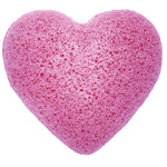 Natural Japan Style Konjac Sponge Heart Shape Lavender