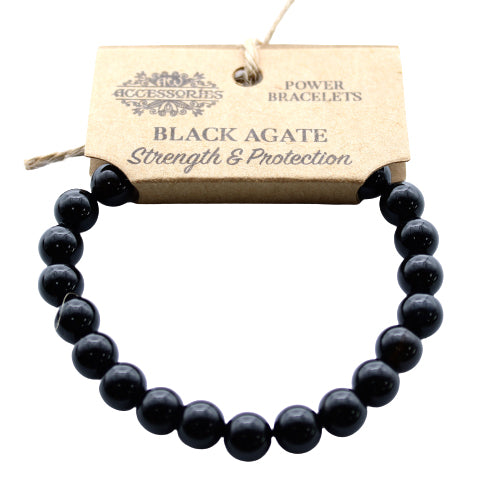 Power Crystal Bracelet - Black Agate