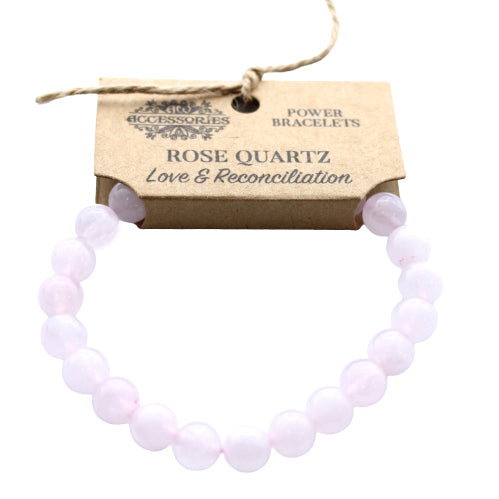 Power Crystal Bracelet - Rose Quartz