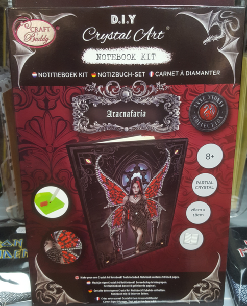 """Aracnafaria"""" 26x18cm Crystal Art Notebook ANNE STOKES"""