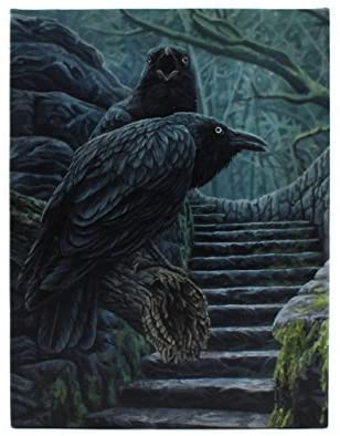 WATCHMEN RAVEN CANVAS PLAQUE PRINT PICTURE BY LISA PARKER