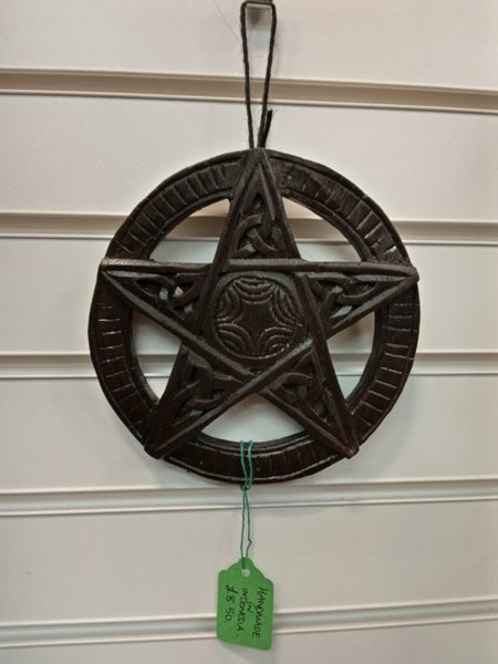 Small Wood Wall Hanging Celtic Pentacle