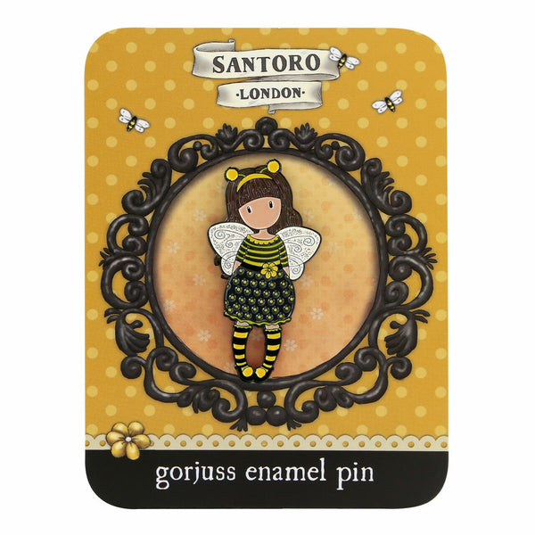 Gorjuss - Enamel Pin Badge - Bee-Loved (Just Bee-Cause)