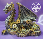 Mechanical Hatchling 11cm Steampunk Dragon Figurine