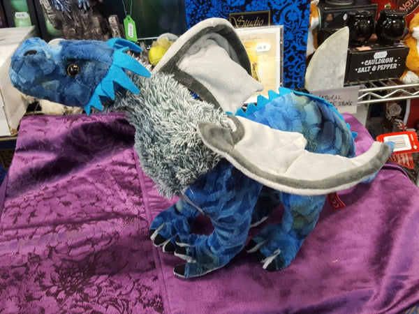 Dragon Plush Soft Toy 48cm Blue/Grey