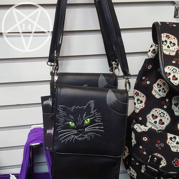 Lucky Cat Shoulder Bag with Mobile Phone Holder