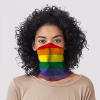 Rainbow Neck Scarf Face Covering