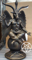 Baphomet Antiquity Occult Mystical Figurine Gothic Ornament Figurine 25cm
