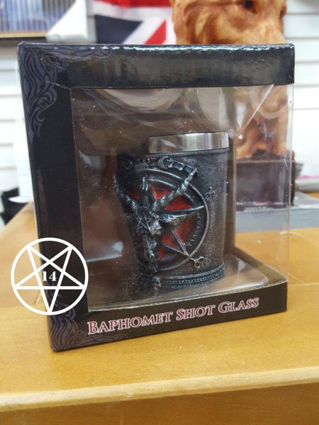 Baphomet Sabatic Goat Diety Shot Glass 7cm