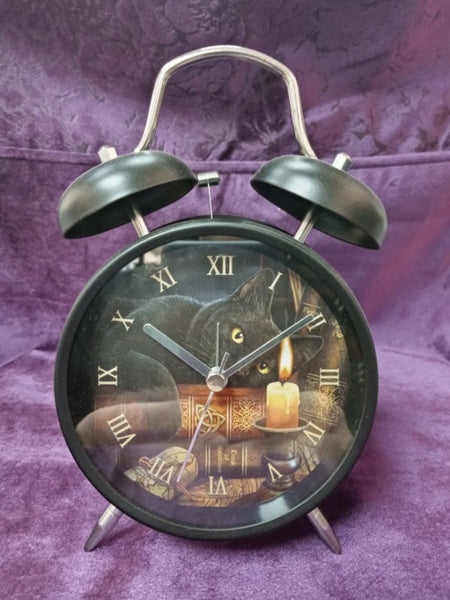 WITCHING HOUR CAT ALARM CLOCK design by LISA PARKER