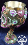 Twilight Blooms Day of the Dead Style Goblet 18cm